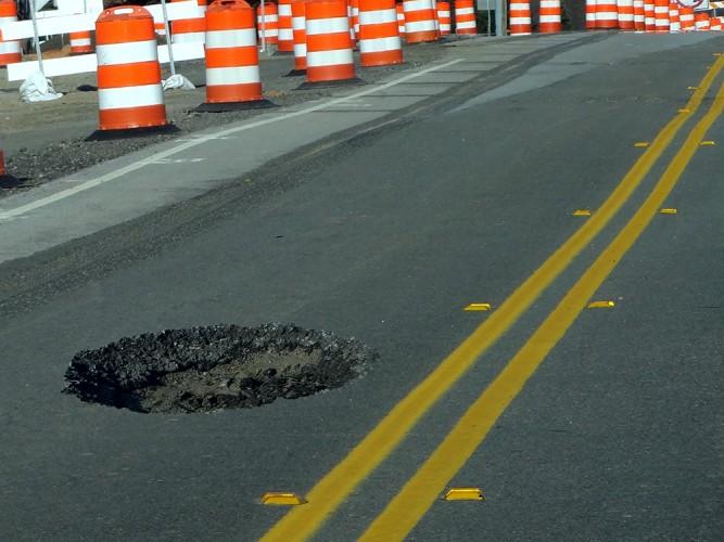 Pothole repair services at Aegis Asphalt