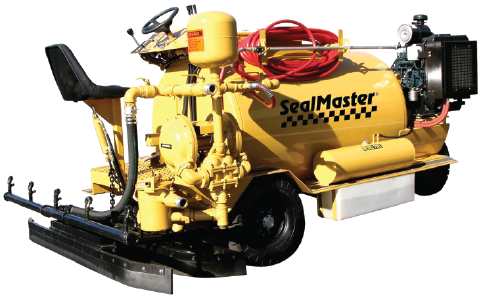 Aegis Asphalt will sealcoat your driveway with a new Sealmaster Dual application machine.
