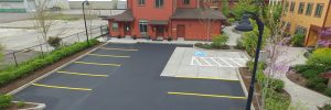 Aegis Asphalt adds sand and additives to asphalt sealer for the best results.